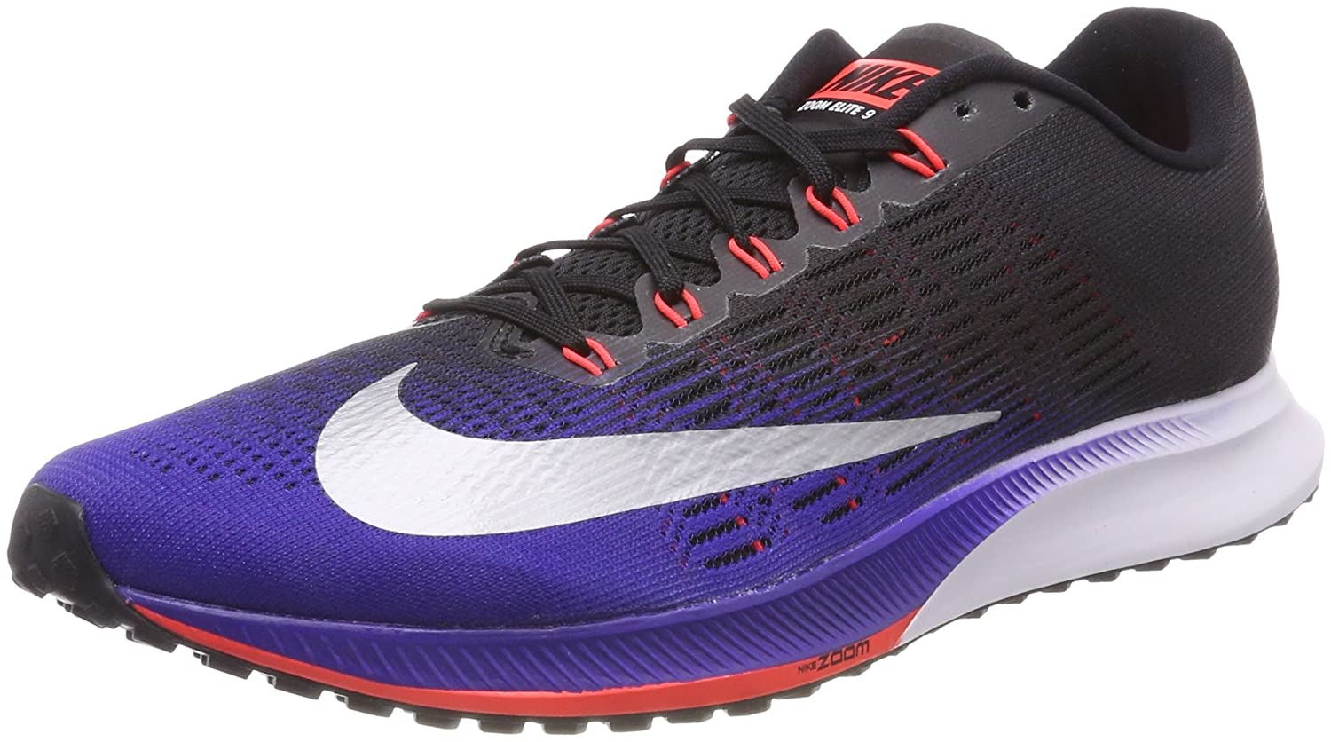 Amazon.com | Nike Air Zoom Elite 9 863769 405 Concord/Silver/Black Mens Running Shoes | Road Running