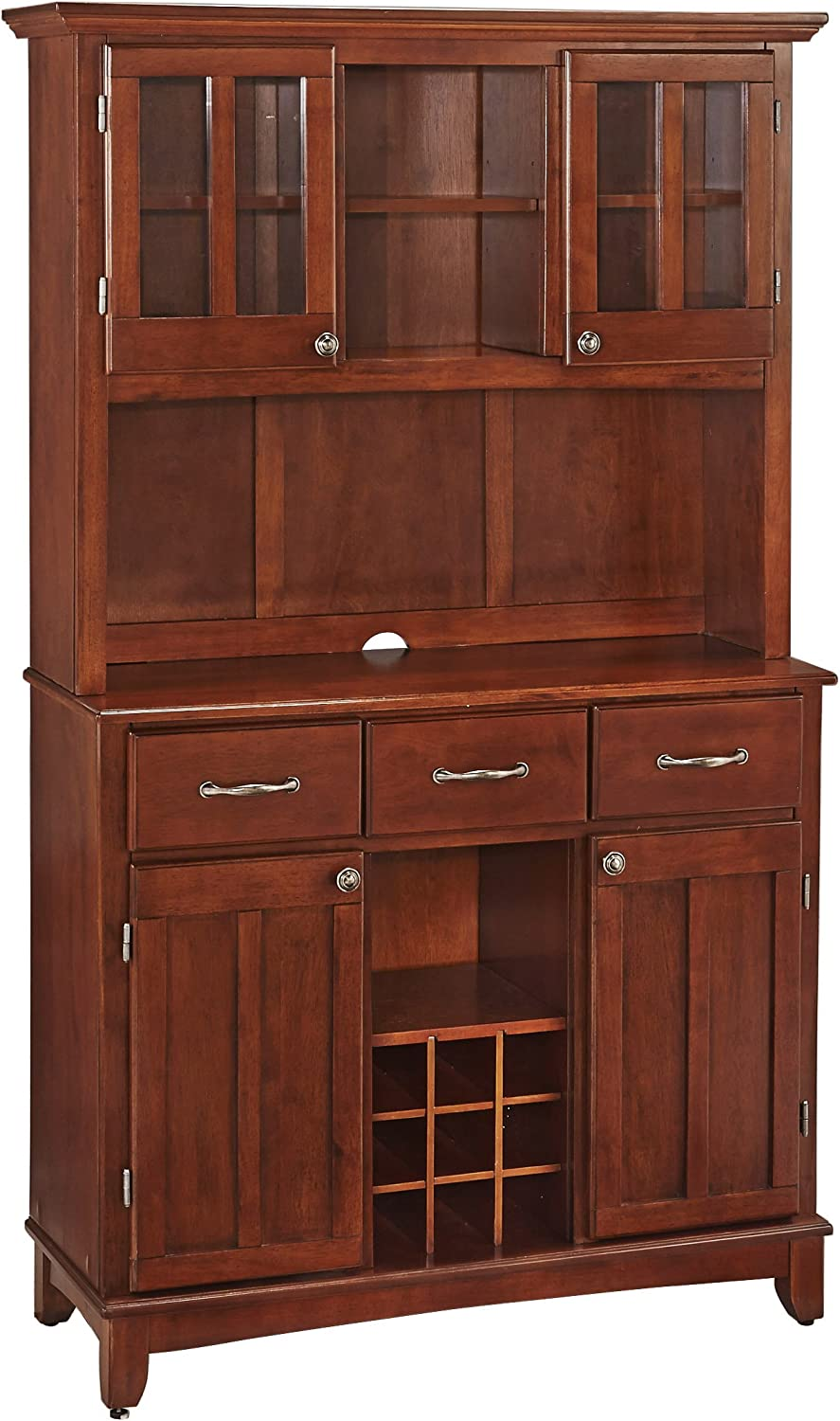 Home Styles 5100-0072-72 Buffet of BuffetsMedium Cherry Wood with Hutch, Cherry Finish, 41-3/4-Inch