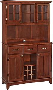 Home Styles 5100-0072-72 Buffet of BuffetsMedium Cherry Wood with Hutch, Cherry Finish, 41-3/4-Inch