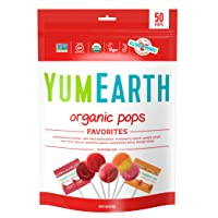 YumEarth Organic Lollipops, Variety Pack, 50 lollipops - 10.9 oz (pack of 1) - Allergy...