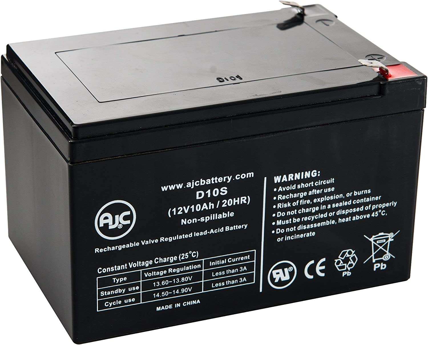 Portalac PXL12120 12V 10Ah UPS Battery This is an AJC Brand Replacement