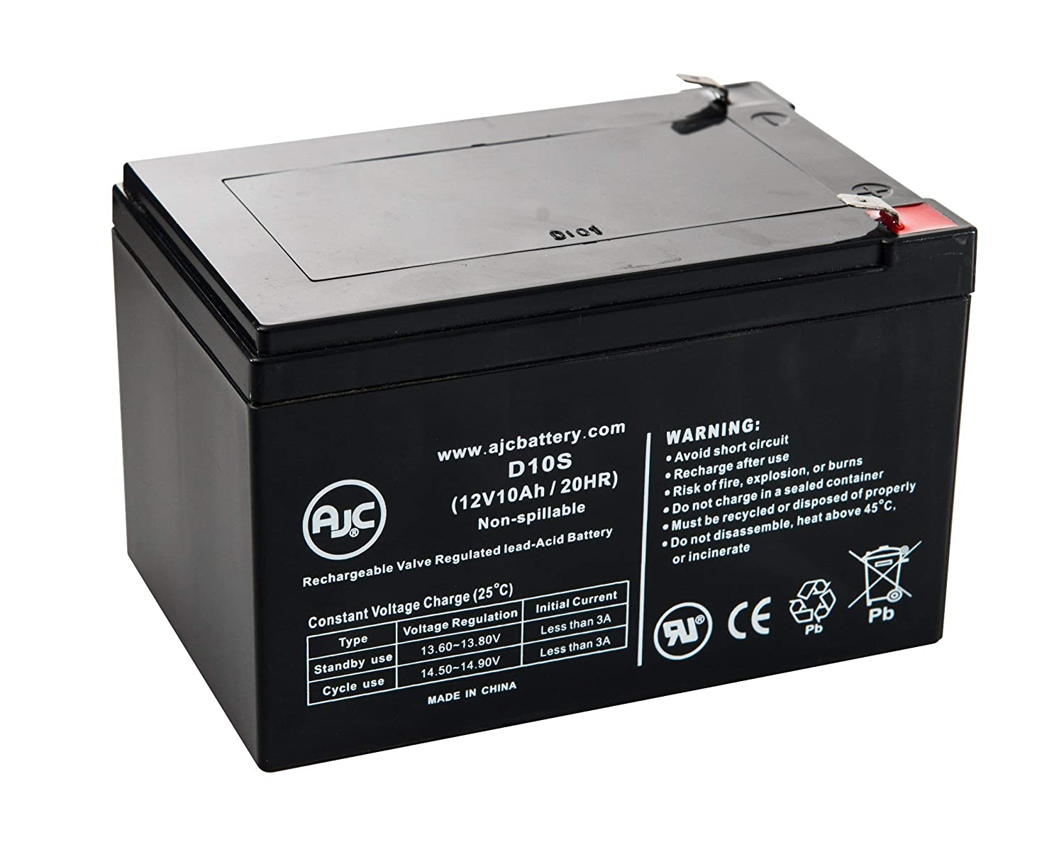 Long Way LW-6FM10 Sealed Lead Acid - AGM - VRLA Battery - This is an AJC Brand Replacement AJC Battery
