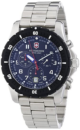Victorinox Swiss Army 241679 - Reloj de cuarzo para hombre, correa de acero inoxidable color plateado: Amazon.es: Relojes