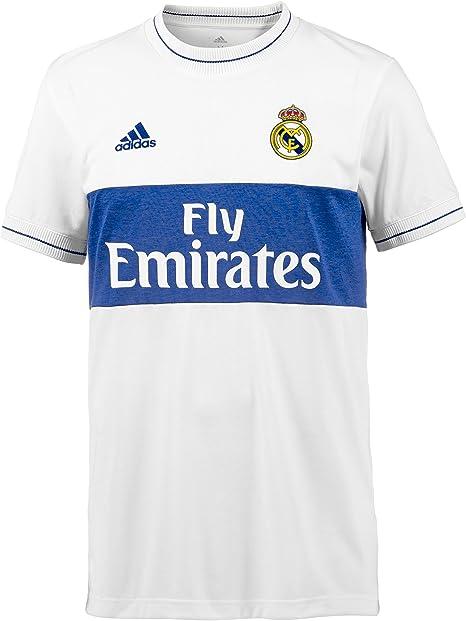 adidas Icon Real Madrid 2017-2018, Camiseta, White-Bold Blue ...