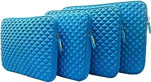 AZ-Cover 14.1-Inch Simplicity Stylish Diamond Foam Shock-Resistant Neoprene Sleeve (Blue) For Lenovo ThinkPad T410 Laptop Notebook - i5