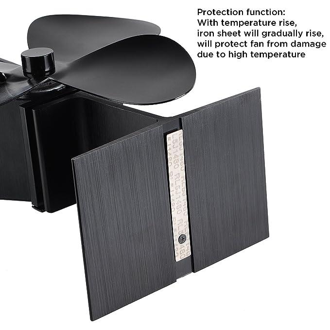 silent operation 4-blade heat powered stove fan for wood/log  burner/fireplace - eco friendly jksmart: amazon co uk: diy & tools