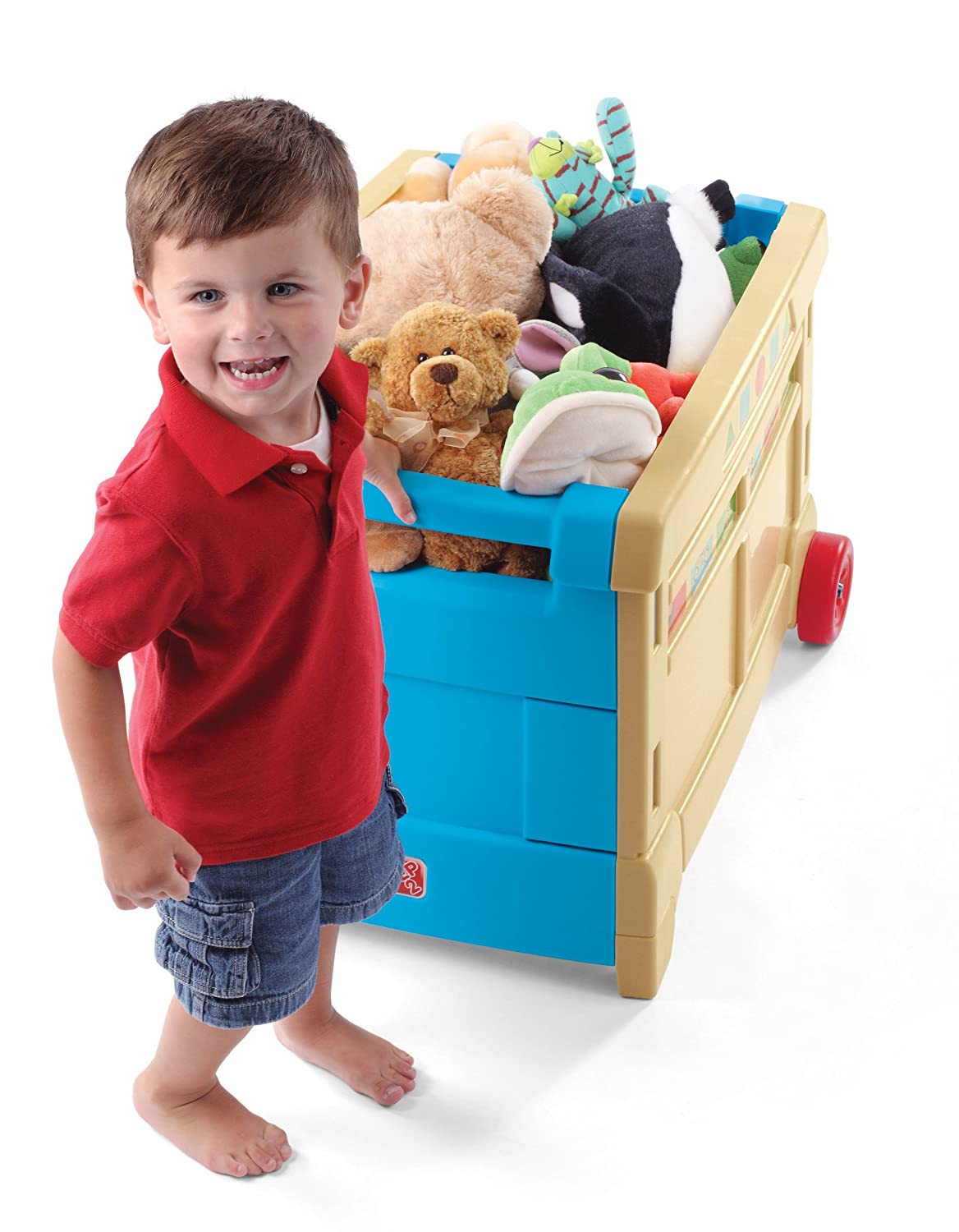 Amazon.com: Step2 Lift and Roll Toy Box: Toys & Games