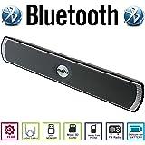 AGM Bluetooth スピーカー ステレオ YOUTUBE視聴可 LED付 ( FMラジオ ) ( ハンズフリー テレホン ) ( LINE IN ) ( USBメモリー) ( MICRO SD ) 安心の基本機能一年メーカー保証 日本語説明書付 D007 (ブラック)