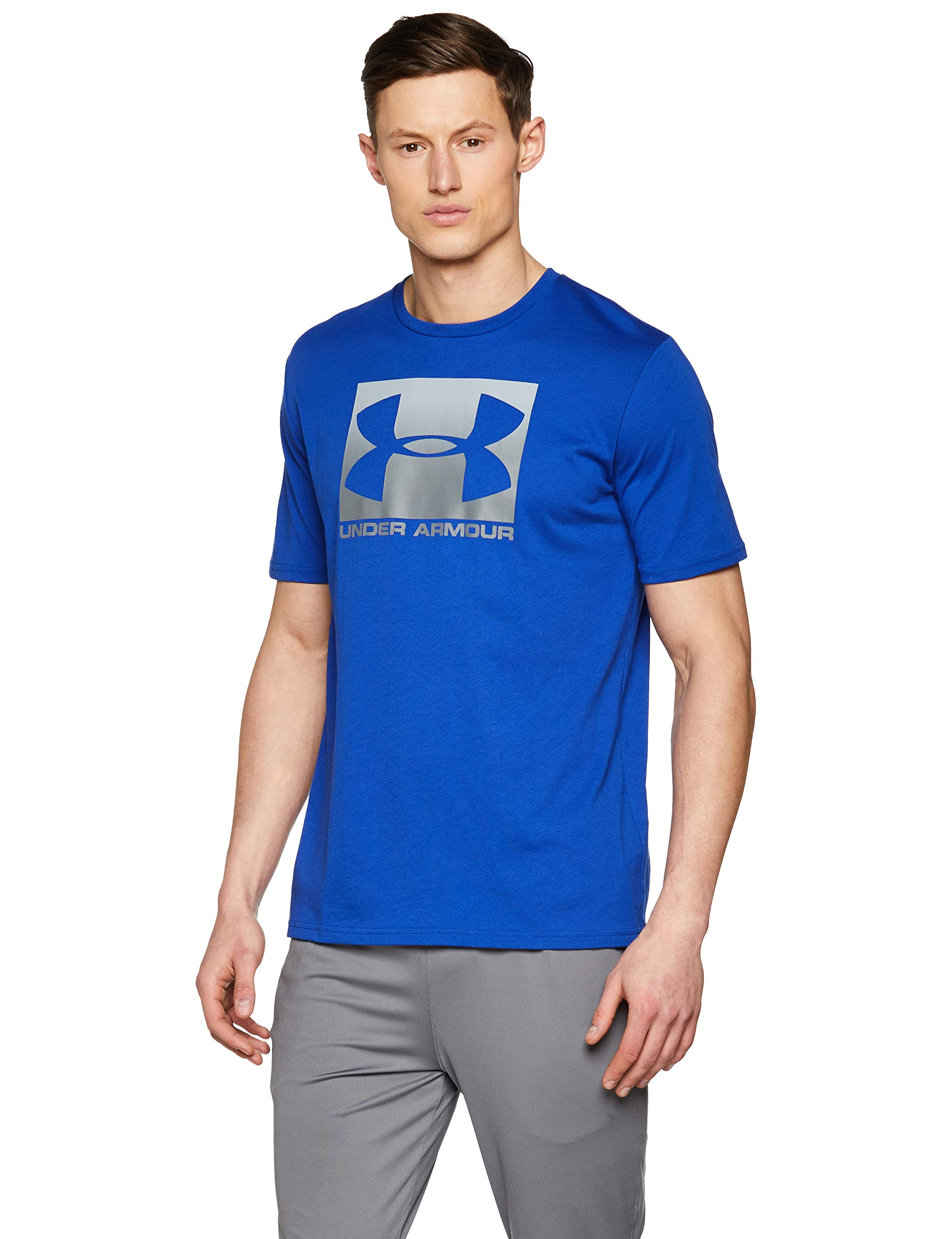 Under Armour Men's Boxed Sportstyle Short Sleeve Shirt, Royal (400)/Graphite, Medium by Under Armour