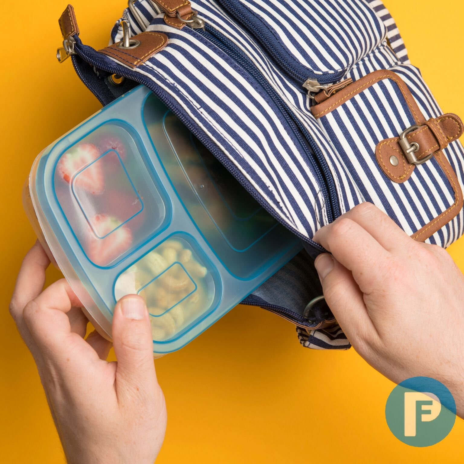Bento Lunch Box 3 Compartment Food Containers – Set of 10 Storage meal prep Container Boxes– Ideal for Adults, Toddler, Kids, Girls, and Boys – Free 2-in-1 Fork/Spoon & Puzzle Sandwich Cutter by Perfect Fit (Image #6)