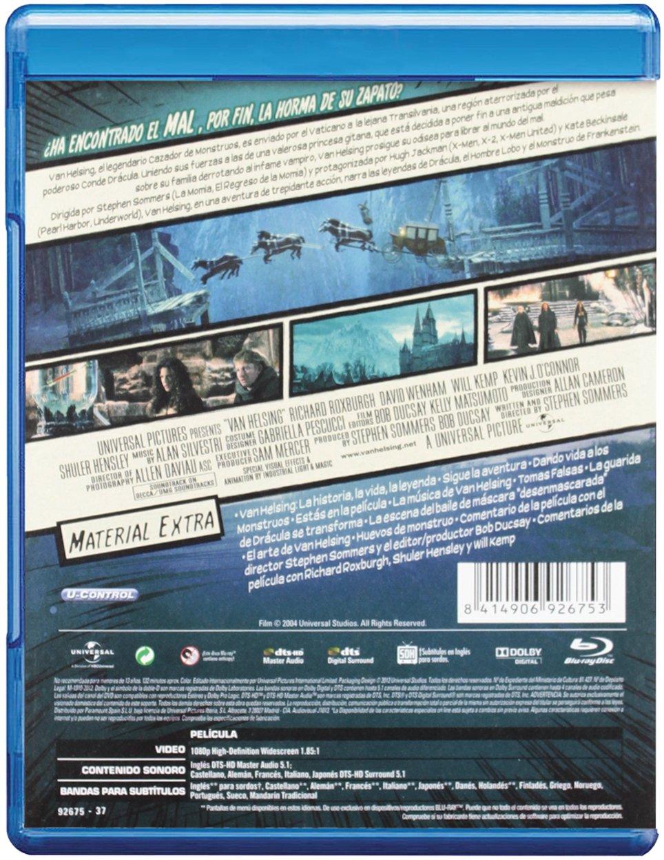 Van Helsing-Edición Comic [Blu-ray]: Amazon.es: Jackman, Hugh ...