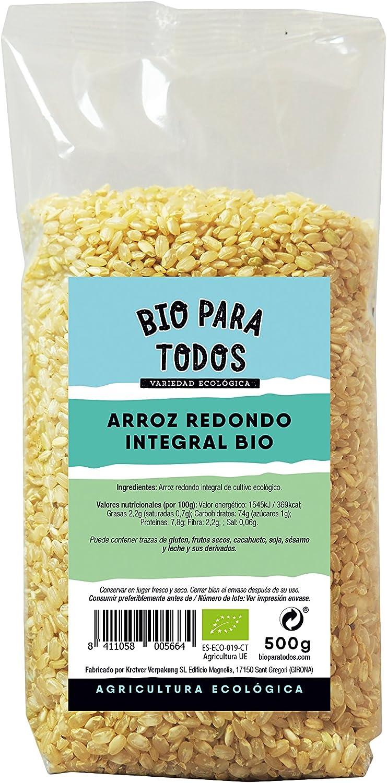 Bio para todos Arroz Redondo Integral - 10 Paquetes de 500 gr ...