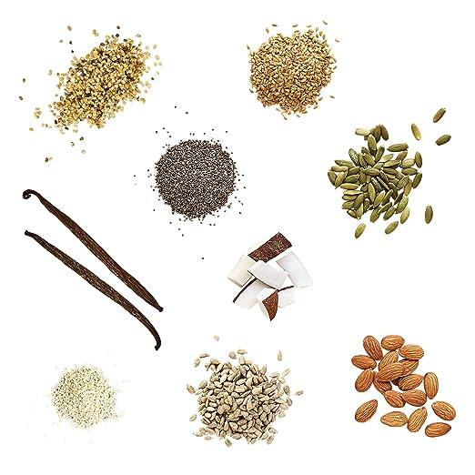 Batido de proteínas vegano de vainilla (500g). Ideal para perder peso & recuperación post-ejercicio - sustituto de comida 100% natural - Batido para el ...