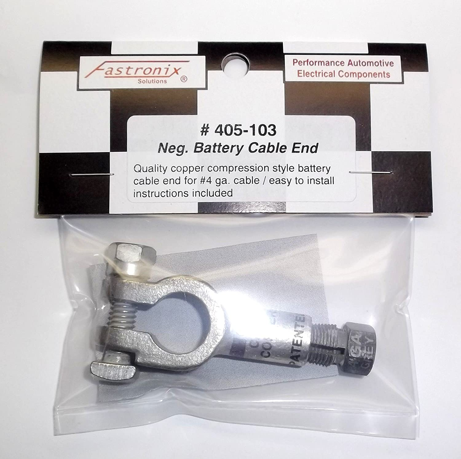Fastronix Top Post Battery Cable Compression Terminal 4 Gauge Positive