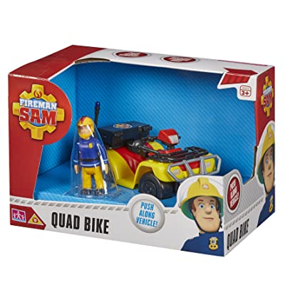 Character Options Fireman Sam Quad Bike with Sam Figure: Toys & Games