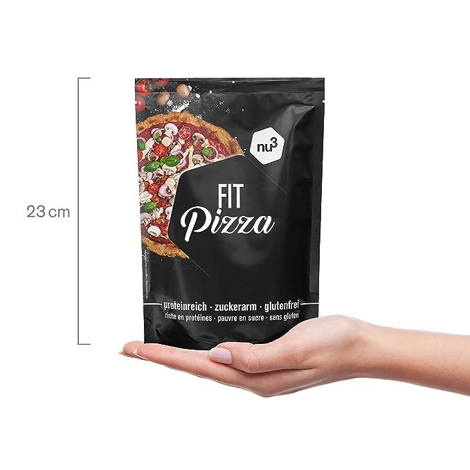 nu3 Fit Pizza baja en carbohidratos | 270g de harina para pizza proteica sin levadura | 100% pizza vegana y libre de gluten | 15g de proteína por porción ...