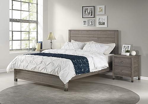 Camaflexi Baja Platform Bed, King Size, Grey