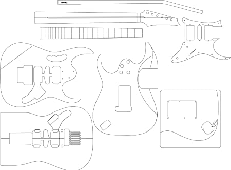 Amazon Com Electric Guitar Routing Template