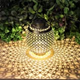 Solar Lanterns Outdoor Hanging, Solar Lights Outdoor Decorative for Garden Patio Yard Lawn and Tabletop with Shadow…