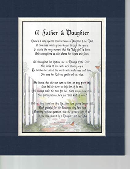 Genies Poems A Father And Daughter Touching Sentimental Poem Christmas Birthday Fathers Day Present For