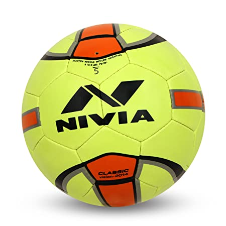 Nivia Classic Rubber Football, Size 5  Yellow/Orange