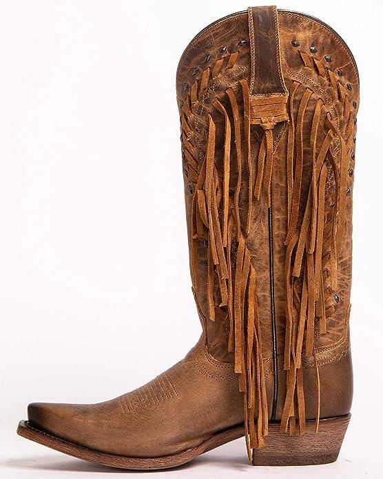55cf7cc307e Ariat Womens Brisco Fringe Western Boot New West 11 B Dusted Wheat ...