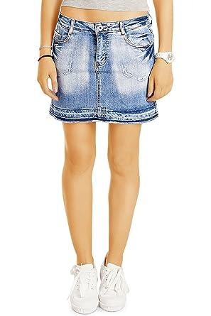 jeans rock damen