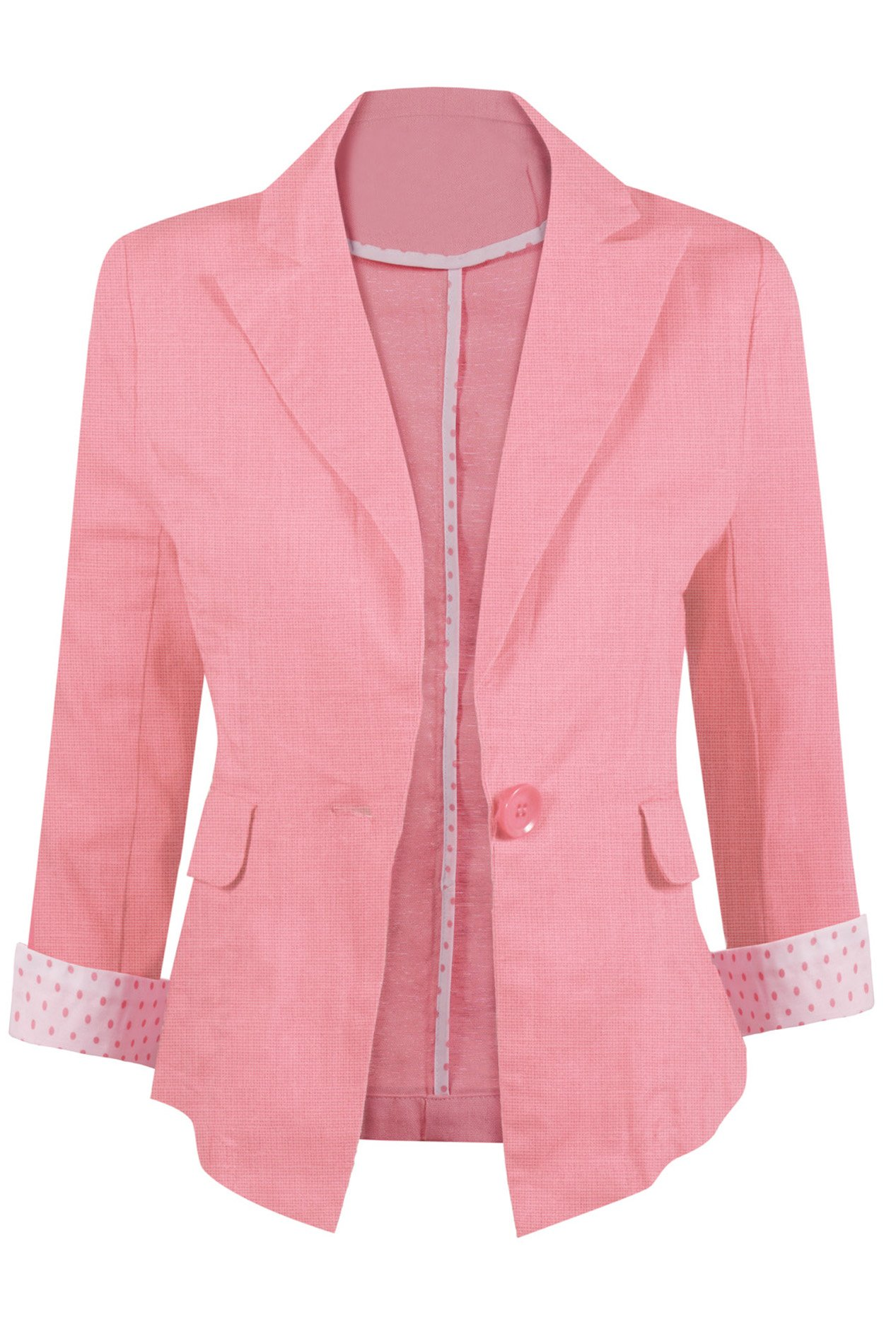Casual Lightweight Linen Blend Blazer?with A Notched Collar and Front Single Button Closure
