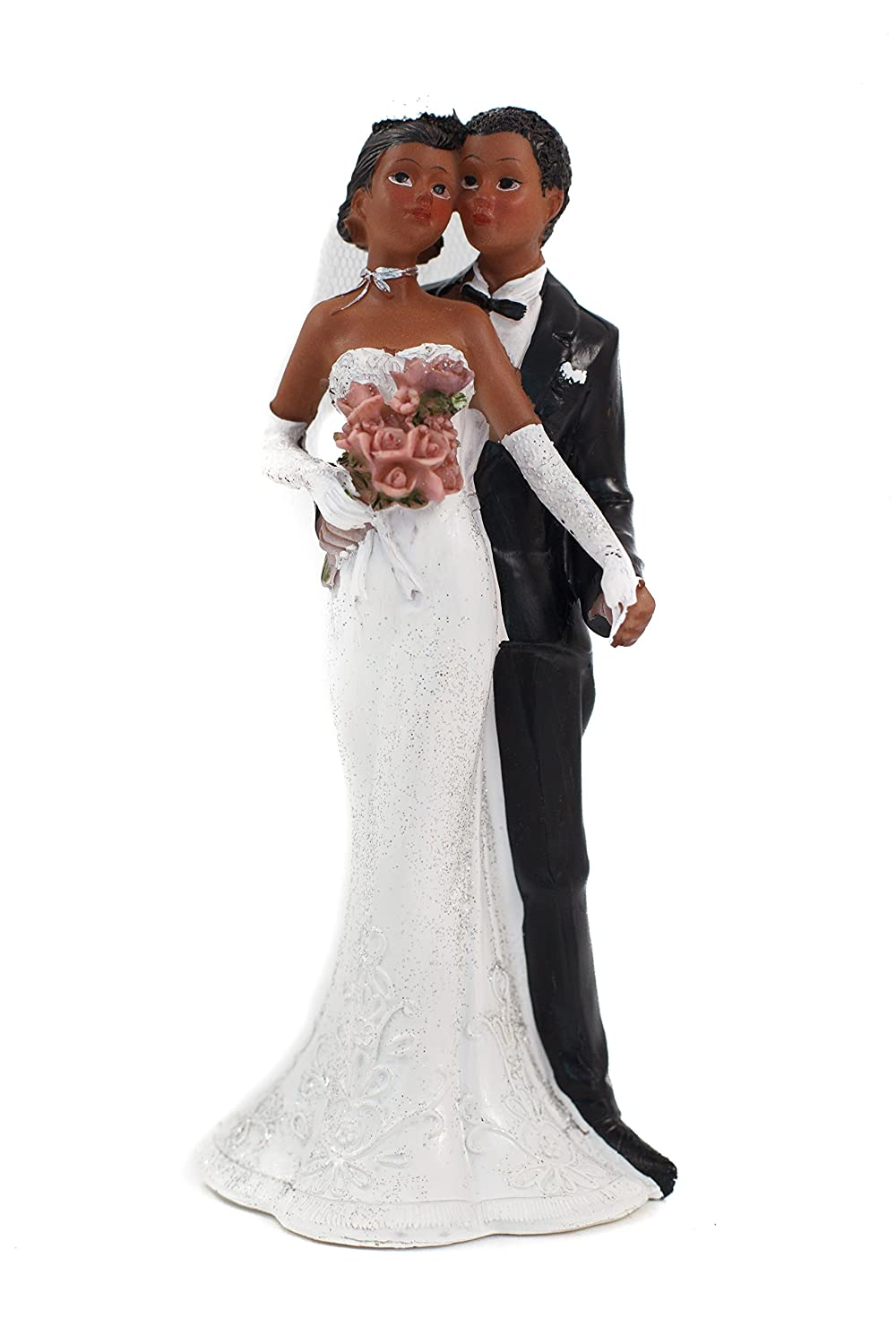 African American Couple Wedding Cake Topper