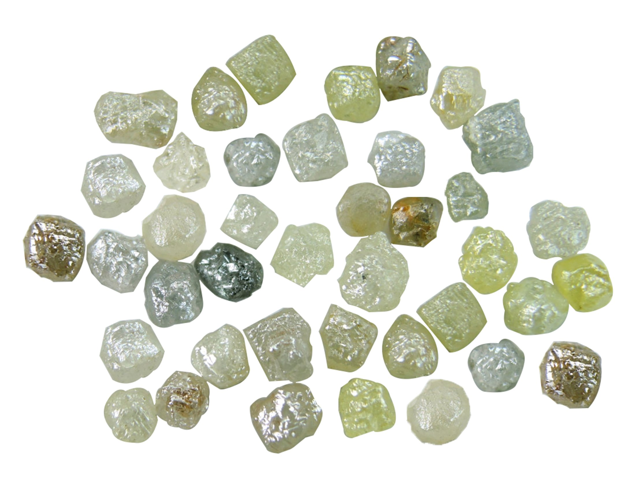 Natural Loose Diamond Rough Uncut Cube Mix Color I3 Clarity 2.00 to 3.50 MM 2.00 Cts Lot Q30
