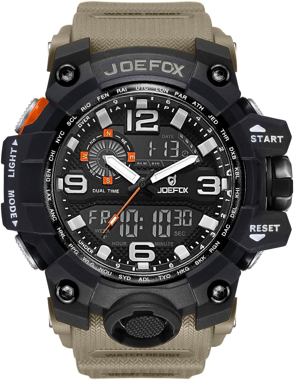 LIBARTE Hombre Reloj Deportivo Militar Sport Hombres Reloj de Pulsera Reloj Pulsera Digital LED