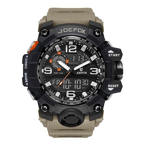 LIBARTE Hombre Reloj Deportivo Militar Sport Hombres Reloj de Pulsera Reloj Pulsera Digital LED: Amazon.es: Relojes