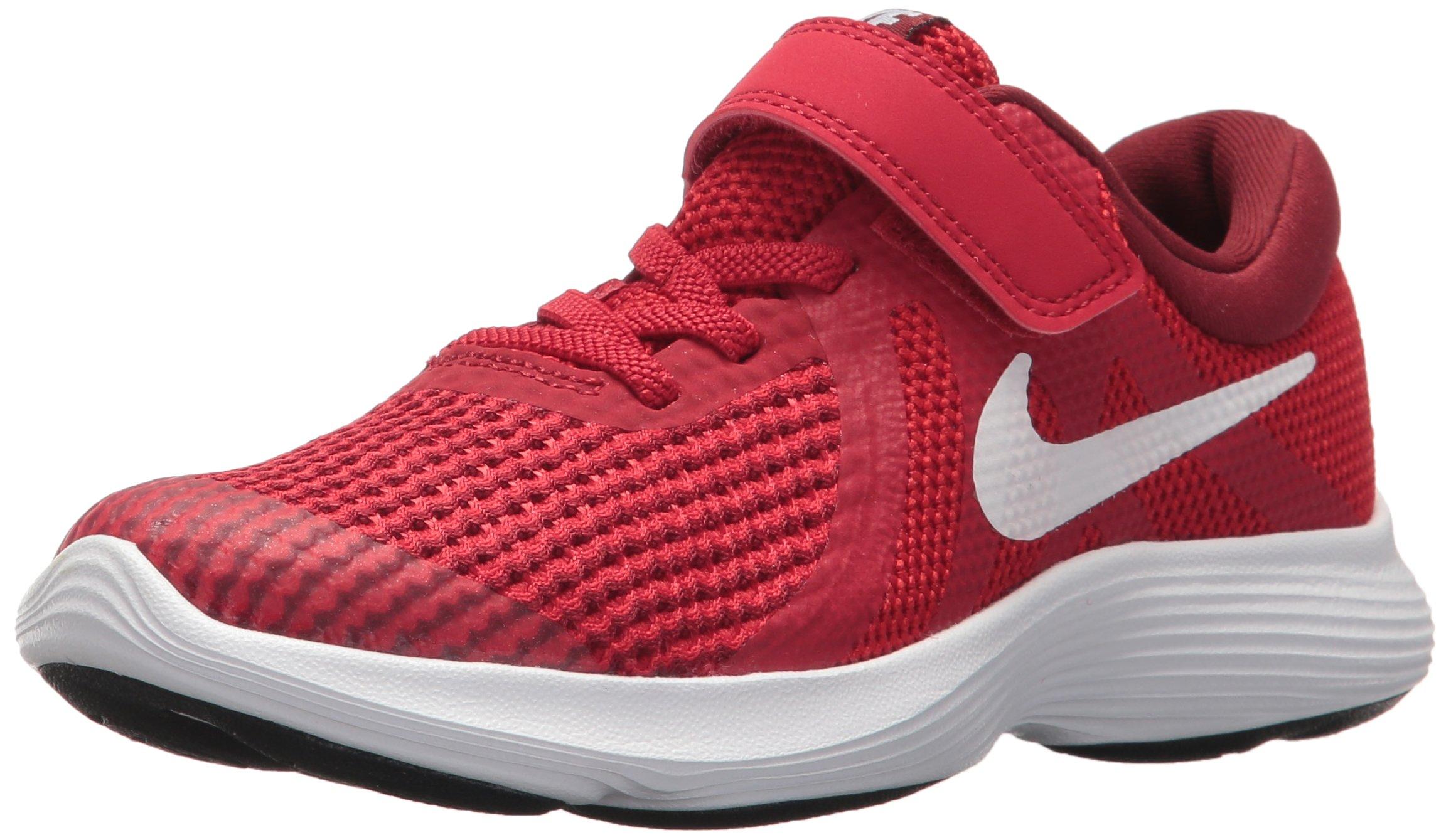 Nike Boys' Revolution 4 (TDV) Running Shoe, Gym White-Team red-Black, 9C Regular US Toddler
