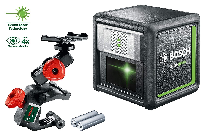 Bosch 0603663C00 Laser Lignes Quigo green 2 piles, diode laser verte, port/ée : 12 m, dans carton