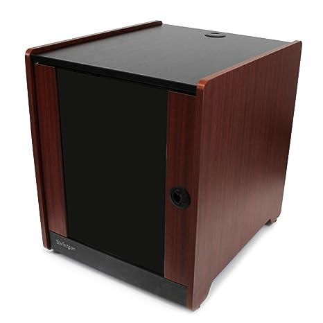 Startechcom 12u Rack Enclosure Server Cabinet 206 In Deep Wood Finish Flat Pack