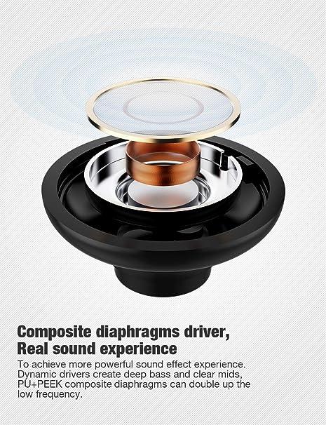 Otium Auriculares inalámbricos, auriculares Bluetooth, Otium Best Sports auriculares, IPX7 auriculares estéreo impermeables para gimnasio, correr, ...