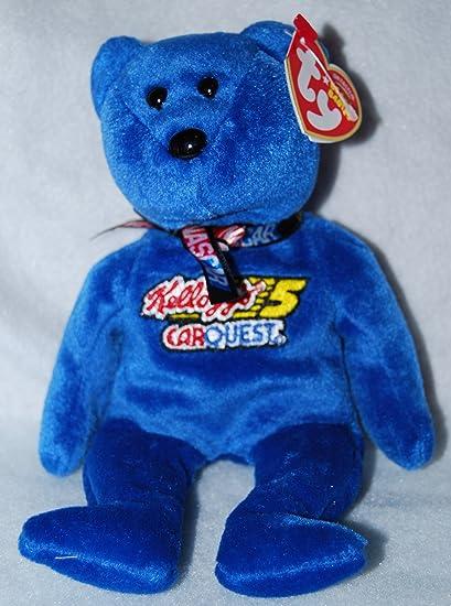 Amazon.com  Ty NASCAR Beanie Baby Bear Kyle Busch  5  Toys   Games 4932e82528c