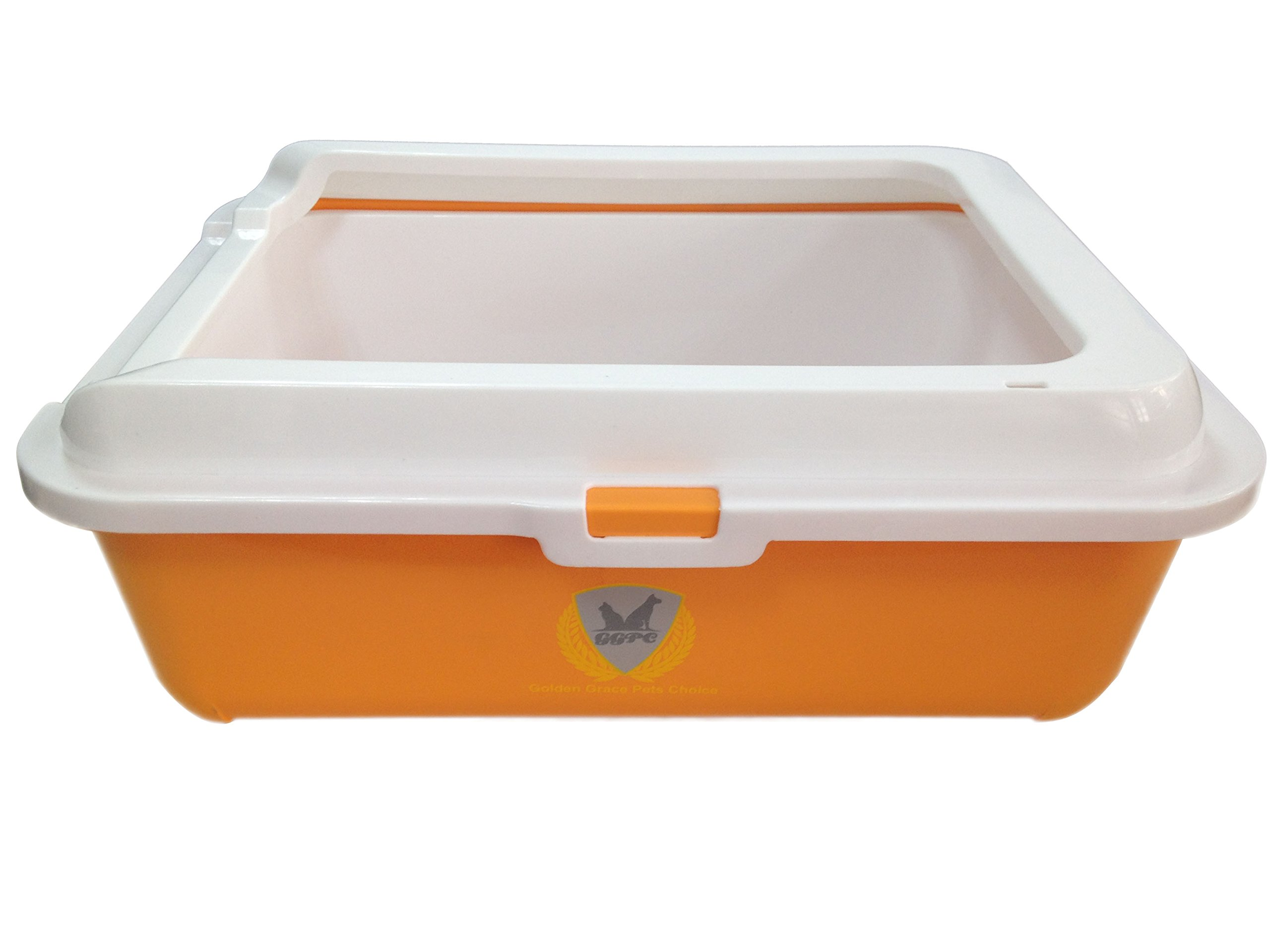 Sifting Litter Box Medium Cat Tray. Framed Sifting Litter Pan provided added height and reduced litter spills, easy to clean and strong; hold pan liners securely in place. by G.G.P.C. by Golden Grace Pets Choice