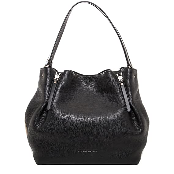 d7a90b91599 Burberry Maidstone Black Full Grain Leather Medium Hobo Bag: Amazon.ca:  Watches