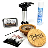 Foghat Cocktail Smoking Kit with Bourbon Barrel Oak, Foghat Fuel Wood Shavings & Smoking Torch | Butane | Infuse Cocktails, W