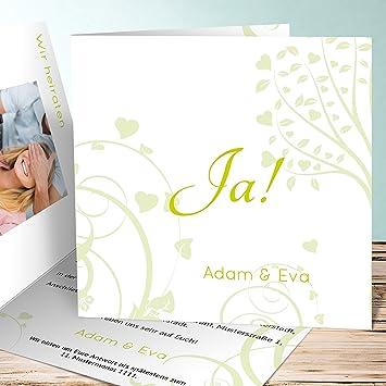 Hochzeitseinladungen Selber Gestalten Gruner Baum 110 Karten