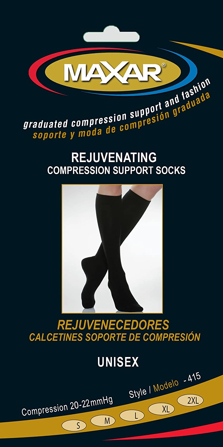 Amazon.com: Maxar rejuvenating compression support socks, unisex, 2x-large, black: Health & Personal Care