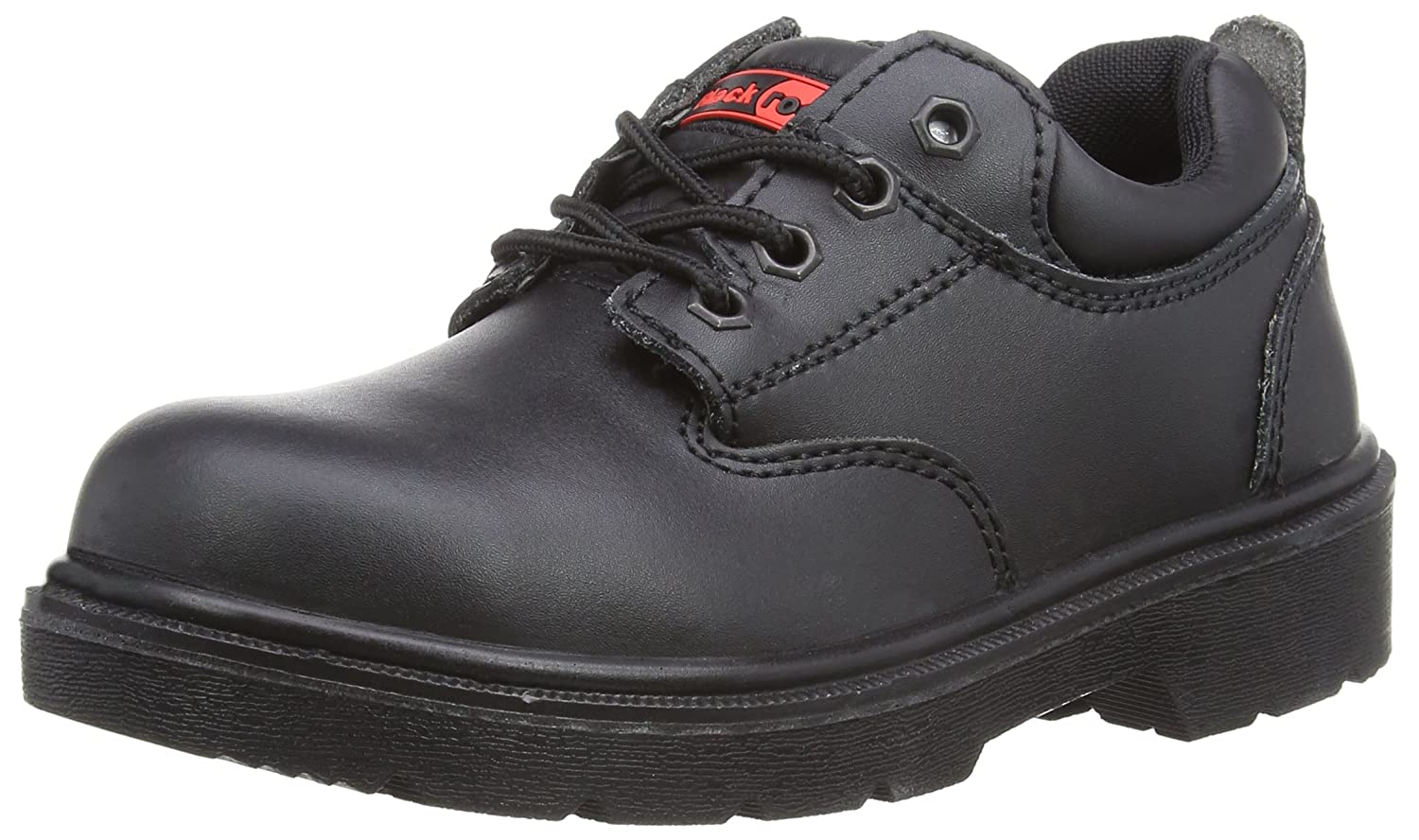 Blackrock Ultimate Black Leather Steel Toe Caps + Midsole Shoes - UK 13 SF32