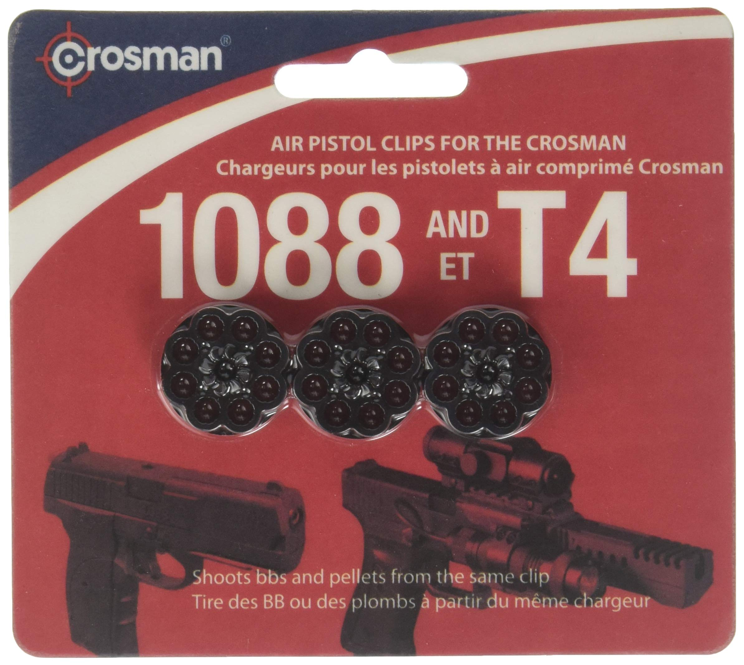 Crosman 8-Shot Rotary Clips, Fits T4 & 1088 Pistols, 3/Pack