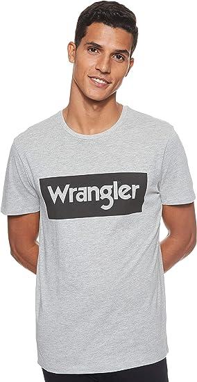 TALLA M. Wrangler Logo tee Camiseta para Hombre