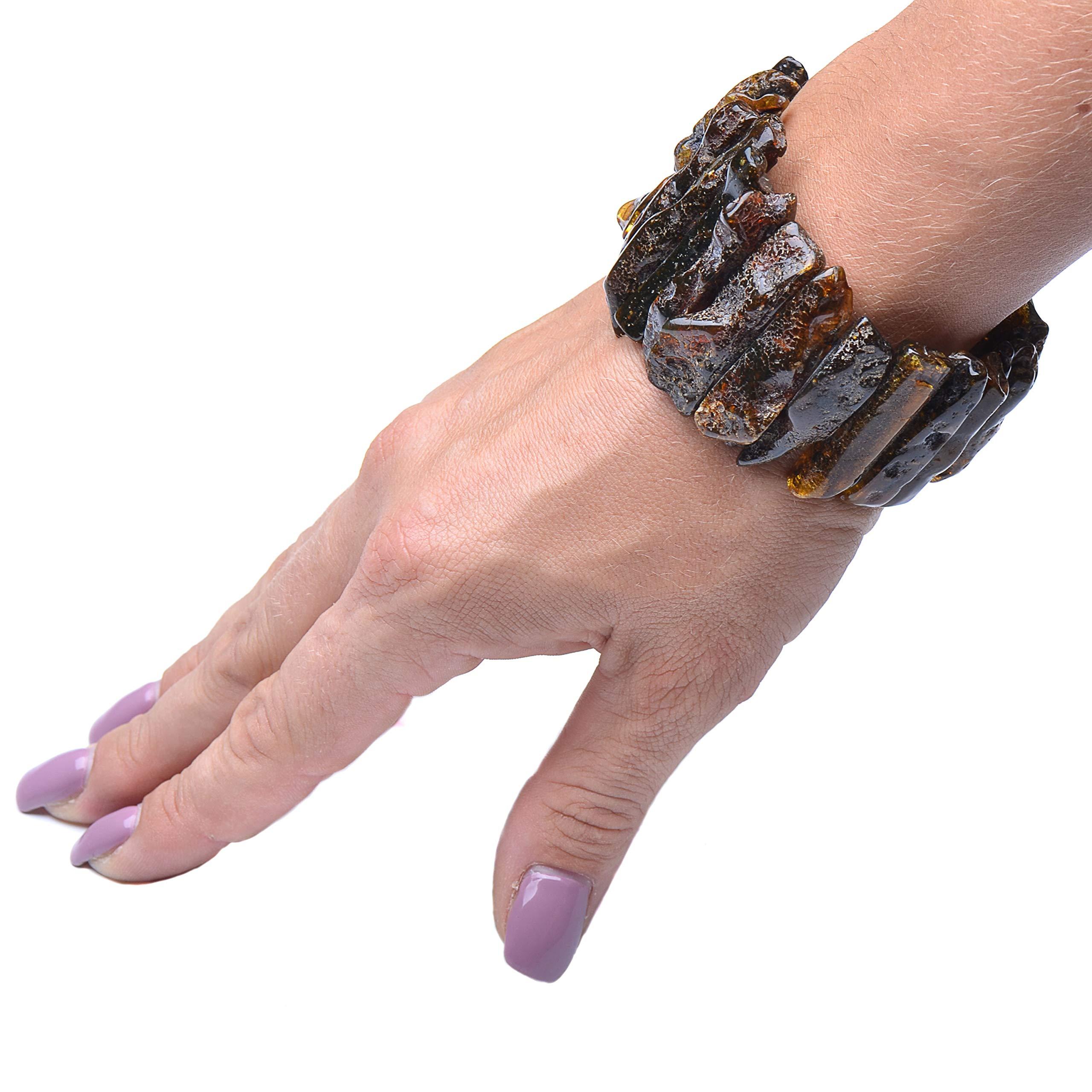 Massive Amber Bracelet - Unique Amber Bracelet - Exclusive Amber Bracelet - Amber Bracelet by Genuine Amber (Image #5)