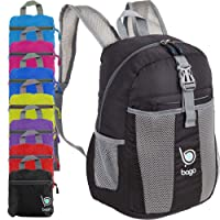 Bago Foldable Rucksack for Women and Men. Lightweight Water Resistant Packable Backpack, Great Unisex Design for Travel School Sports Outdoors 25l