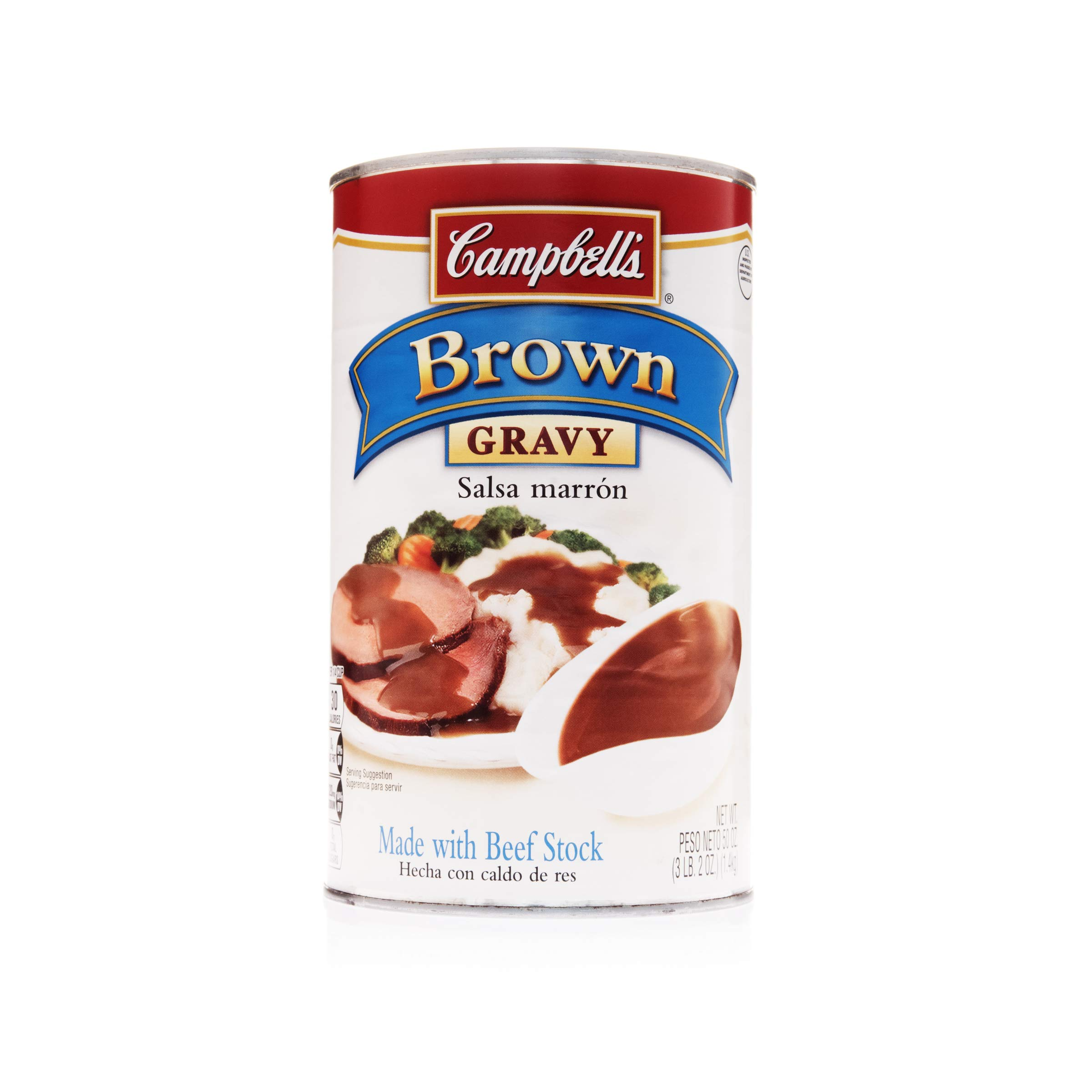 Campbell's Ready To Serve Brown Gravy, Rich & Flavorful Recipe, 12 Pack, 50 Oz