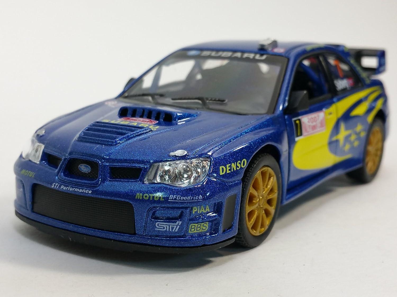 Kinsmart Blue 2007 Subaru Impreza WRC STI Rallye Monte Carlo #7 1 36 Scale Diecast Car