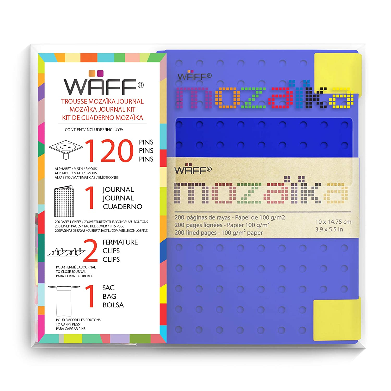 WAFF MOZAIKA Medium Combo (120 Pegs + Bag) Lavender (5.75